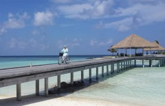 Cycling on a beautiful day in Maldives. (Pic credit: Anita Ahmad)