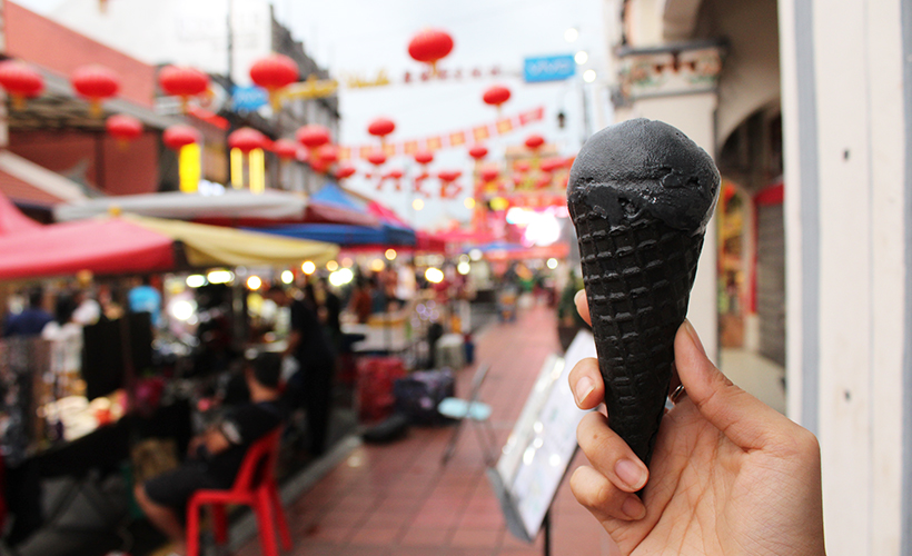 Didn't you hear? Black is the new black. Especially with ice-cream.